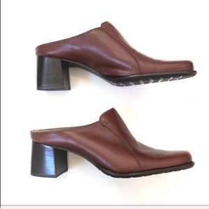 Nautralizer Brown Leather Mules  8.5
